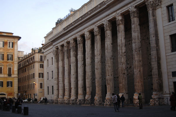 Italy. Rome. Temple of Hadrian or Hadrianeum. Year 145