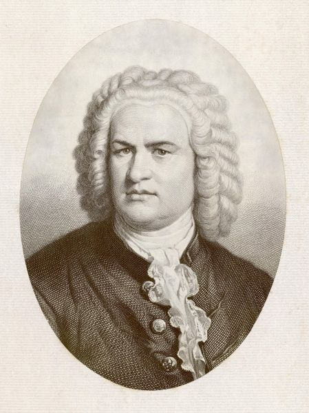 J S BACH (PORTRAIT). JOHANN SEBASTIAN BACH German organist and composer
