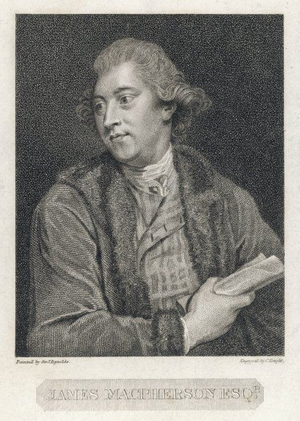 "James Macpherson, Scottish writer, poet, literary collector and politician, known as the ""translator"" of the Ossian cycle of poems (their authenticity has been disputed)"