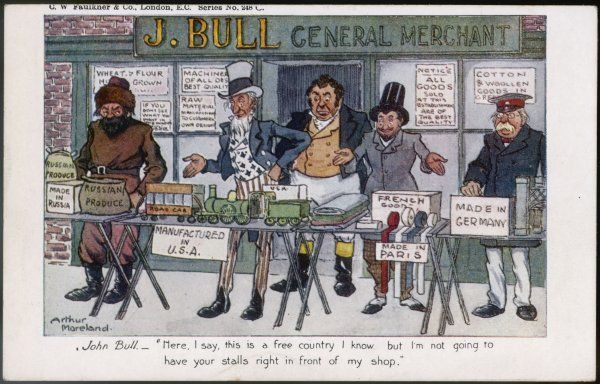 John Bull isn't too keen on the consequences of Free Trade