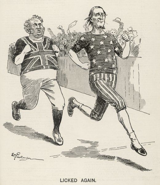 "John Bull ""licked again"" by Uncle Sam"