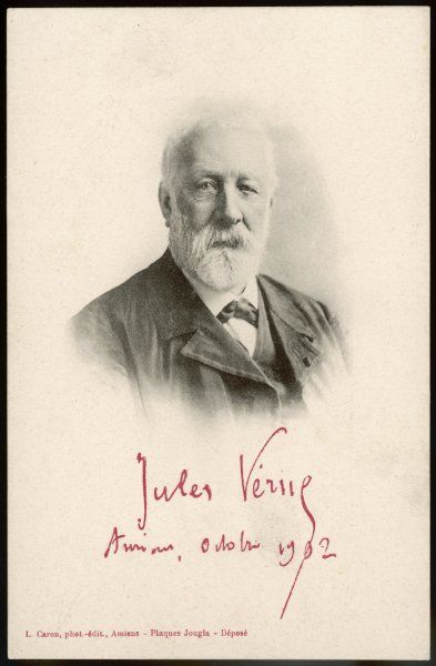 JULES VERNE (CARON). JULES VERNE French science fiction writer, in 1902