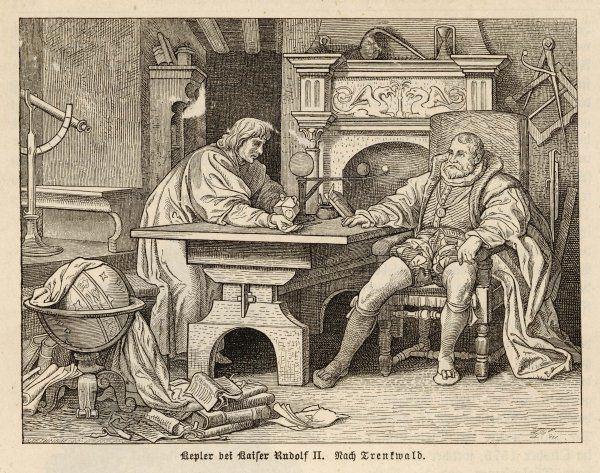 JOHANNES KEPLER German astronomer with Rudolf II