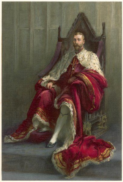 King George V on Throne