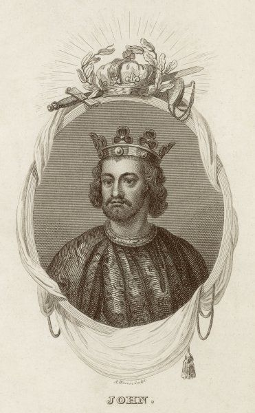 KING JOHN OF ENGLAND Reigned 1199 - 1216 Brother of Richard I (the Lionheart)