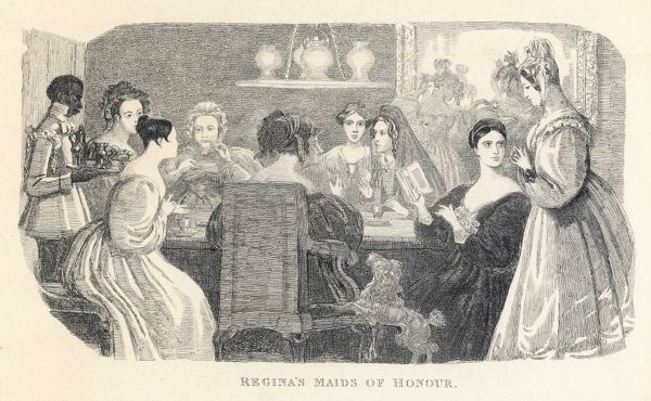 Regina's Maids of Honour - A ladies' literary society gathering