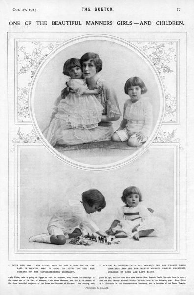Lady Elcho and her children