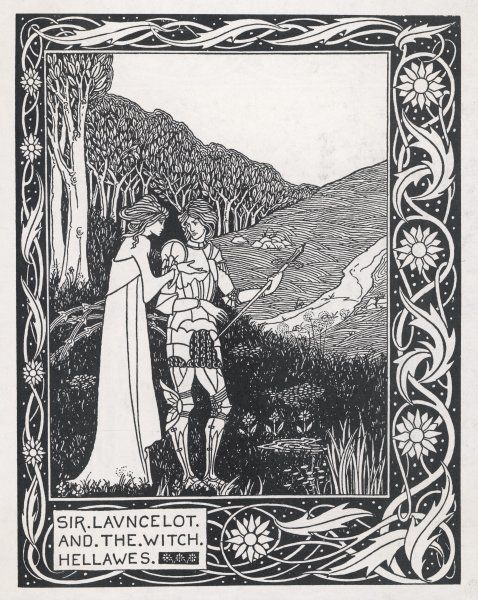 LANCELOT & HELLAWES. Sir Lancelot and the witch Hellawes
