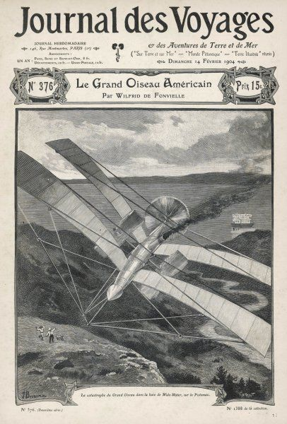 Samuel Pierpont Langley's full-size flying machine fails over the Potomac, Washington, though trials with models had been successful