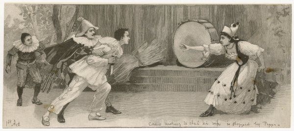 I PAGLIACCI Act 1 : Canio making to stab his wife