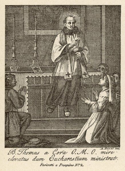 LEVITATION / THOMAS. The blessed Thomas a Cora is levitated while administering the Mass