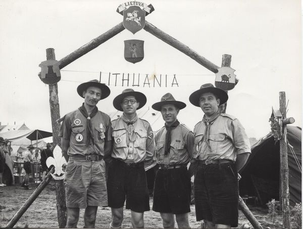 Lithuanian Scouts in Exile at camp