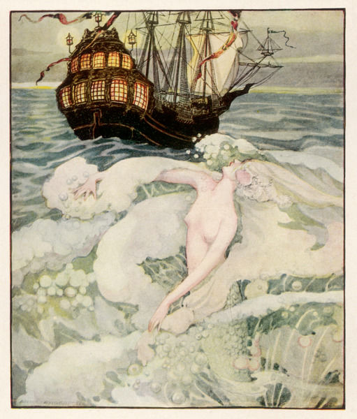 The little mermaid watches a ship (Hans Christian Andersen) Date