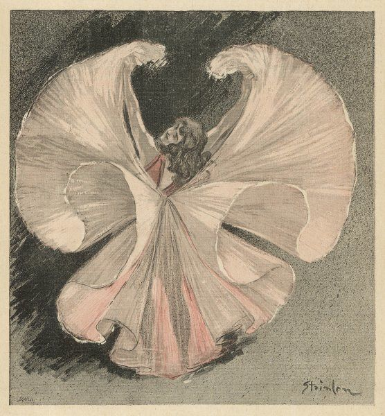LOIE FULLER (Mary Louise Fuller) American dancer at the Folies Bergere, Paris