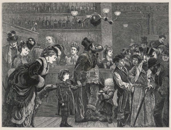'Before the bar' - a London pub of the kind which replaced the old 'gin-palace'