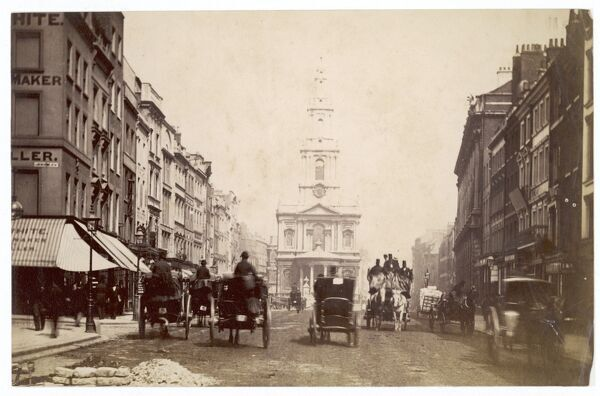 A view of the Strand, in London