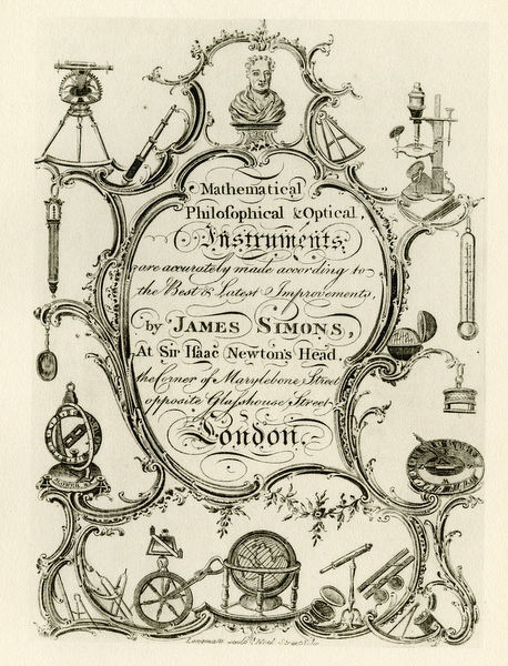 London Trade Card - James Simons, Scientiific Instruments