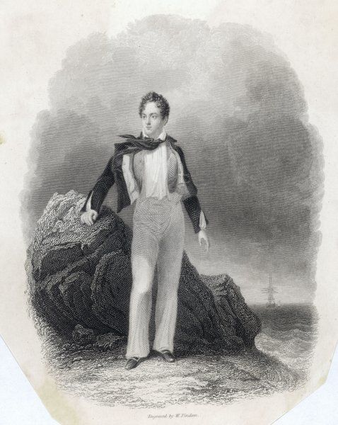 LORD BYRON IN 1807. GEORGE GORDON, LORD BYRON English poet in 1807