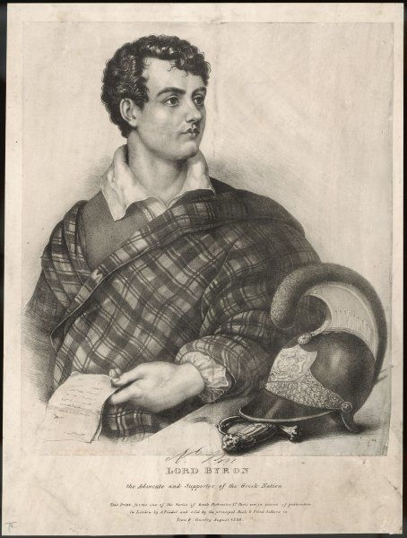 GEORGE GORDON, LORD BYRON English poet as a supporter of Greek independence in 1826