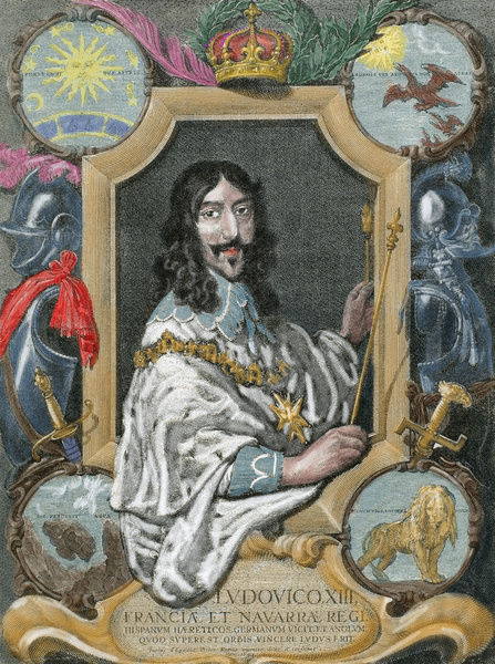 Louis XIII of France (1601-1643). House of Bourbon. King of