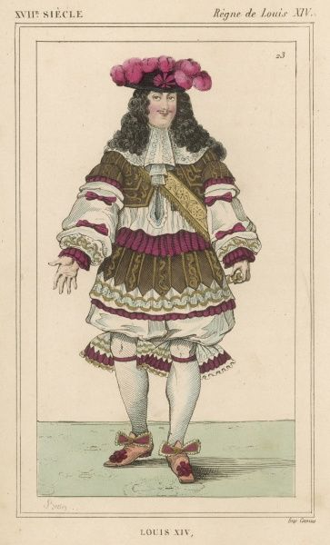 LOUIS XIV (1670). LOUIS XIV French monarch (picture dated 1670)