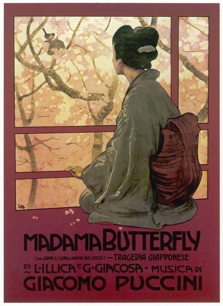 Madame Butterfly. Cover of the score of Madame Butterfly by Puccini