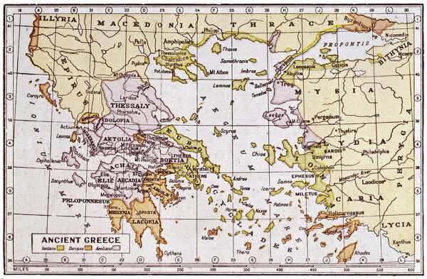 Map of ancient greece a map showing the extent of the greek empire a map showing the extent of the greek empire and the surrounding territories gumiabroncs Image collections
