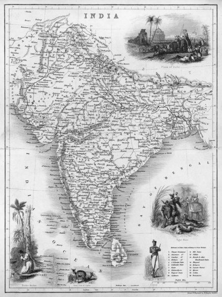 India under British rule, about the time of the Mutiny