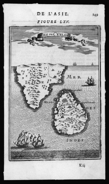 'ISLE DE CEYLAN' and southern India
