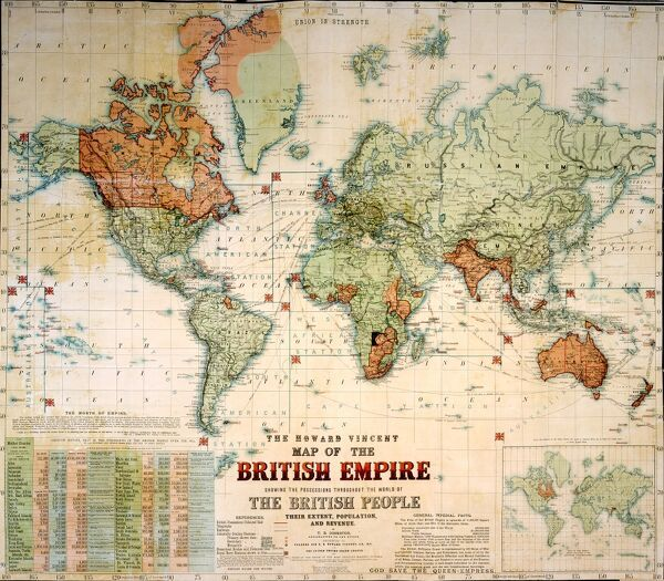 The Howard Vincent map of the British Empire,1897 Date: 1897