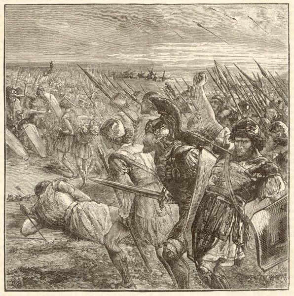BATTLE OF MARATHON Miltiades, with 11,000 Athenians and Plataeans, defeats the 60,000-strong Persian army of Darius Hystaspes