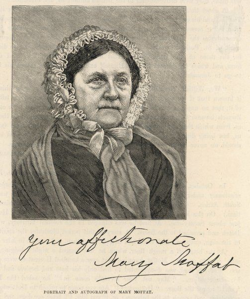 Mary (Moffat) Livingstone missionary and wife of David Livingstone, explorer