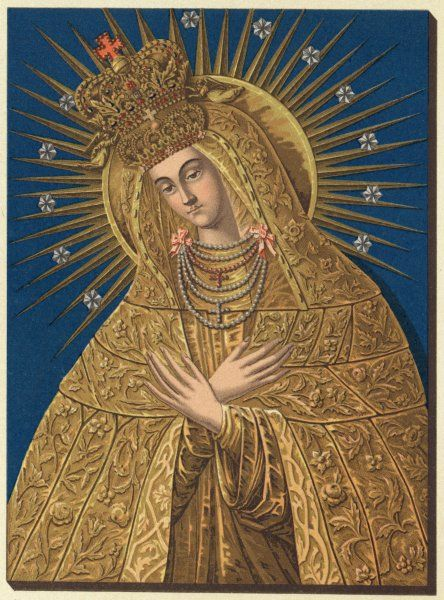 MARY OF OSTRABRAMA. depicted as Our lady of Ostrabrama