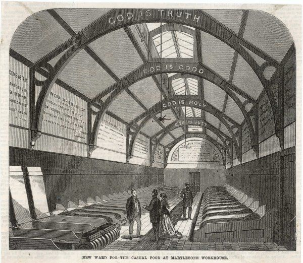 London : the Casual Ward for overnight lodgers, at Marylebone Workhouse