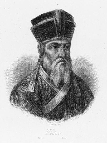 Matteo Ricci, an Italian Jesuit missionary in China