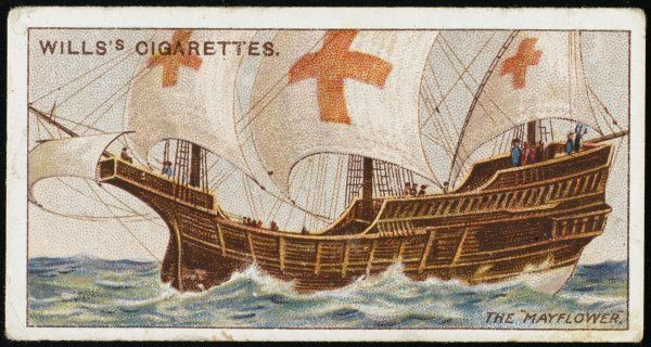 The vessel which carried the 'Pilgrim Fathers' in 63 days to America, reaching New England in December 1620