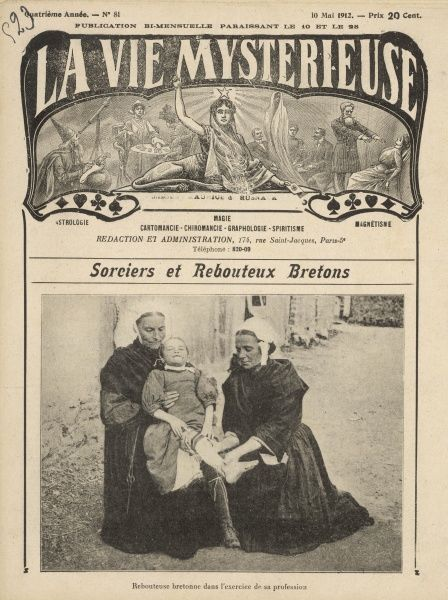 MEDICAL/ALTERNATIVE. A Breton rebouteuse healing a child patient