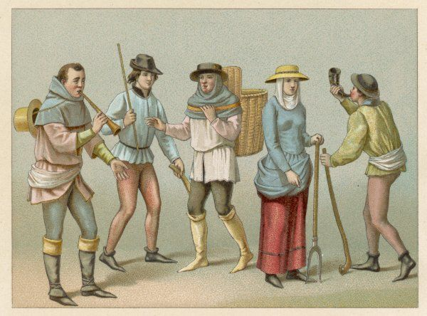 Peasants and other commoners Date: Middle Ages