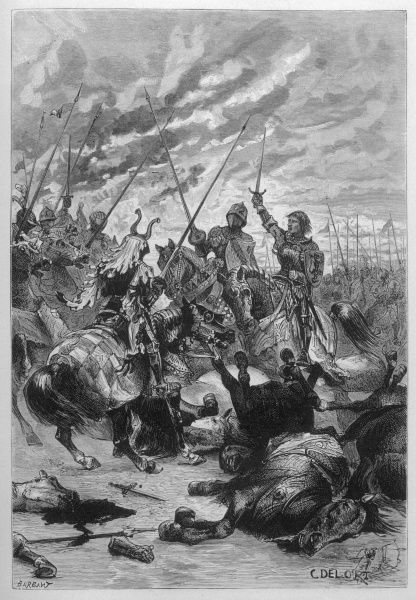 The 'combat des treize' in which 13 Spanish knights challenged 13 French knights (including Bayard) to a combat at Trani, in Italy