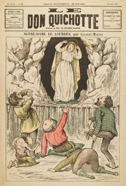In the grotto at Lourdes, the Virgin Mary is appalled when the sick and crippled come begging her to work miracles for them
