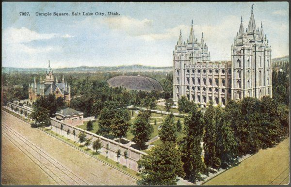 The Mormon Temple, Temple Square, Salt Lake City, Utah built 1893 at a cost of nearly $4 million