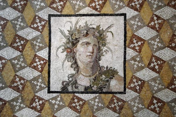 Mosaic. 2nd century. Imperial Period. Woman with a flower's
