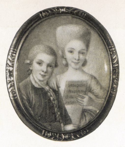 MOZART AND SISTER. W.A.Mozart and his sister, Marianne