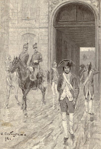 NAPOLEON 1784 CADET. NAPOLEON, in 1784, as a cadet at the military school at Paris