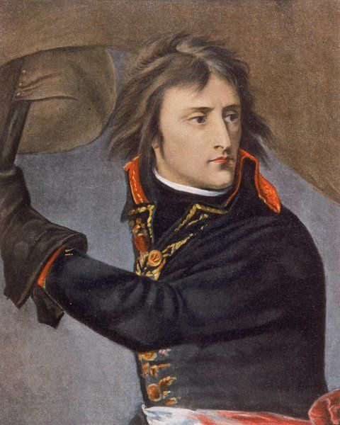 Napoleon on the bridge at Arcola, Italy, 15 November 1796