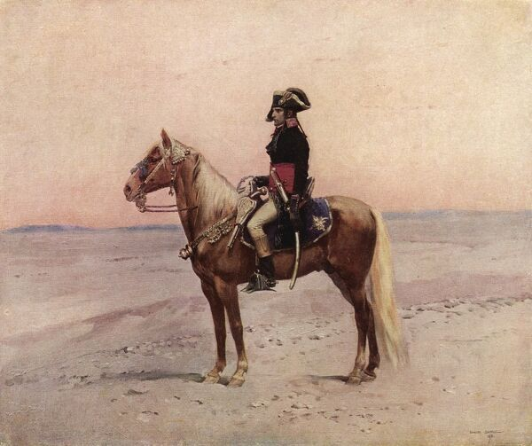 NAPOLEON IN EGYPT. NAPOLEON I during the Egyptian campaign, 1798