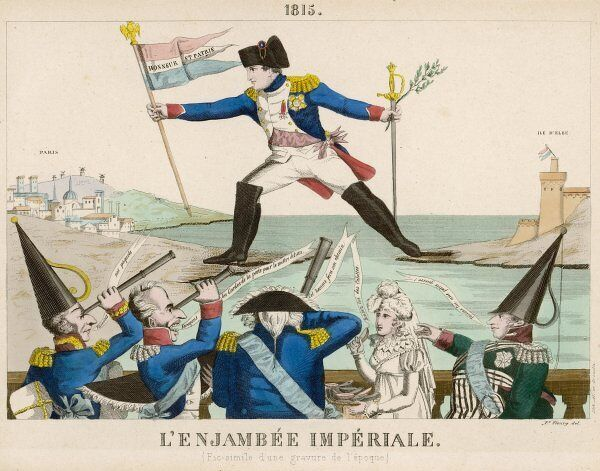 NAPOLEON FROM ELBA. Napoleon returns from Elba, alarming the authorities at Paris