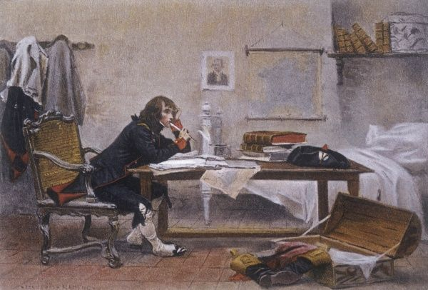 NAPOLEON, in 1788, as a young officer at Auxonne, studying military history