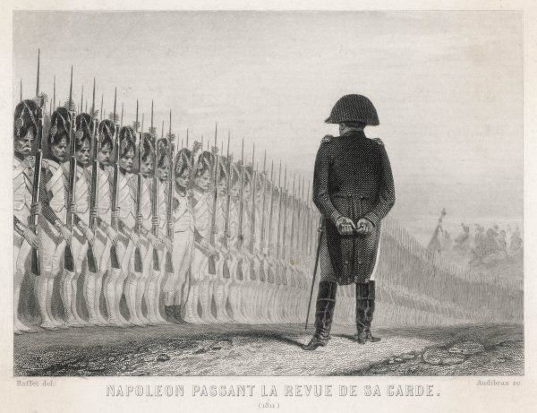 NAPOLEON REVIEWING. He reviews the Imperial Guard