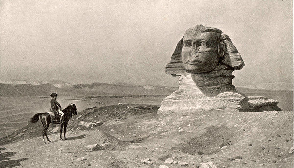 EGYPTIAN CAMPAIGN 'L'Oedipe' - Napoleon face to face with the Sphinx